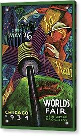 1934 Chicago Worlds Fair Acrylic Print by Sandor Katz