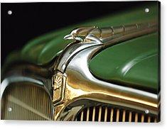 1934 Nash Ambassador 8 Hood Ornament Acrylic Print by Jill Reger