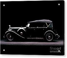 1934 Packard Super Eight Cowl Phaeton Water Color Digital Art And Pallet Knife Acrylic Print by R Muirhead Art
