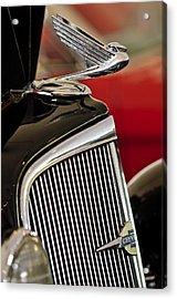 1935 Chevrolet Optional Eagle Hood Ornament Acrylic Print by Jill Reger