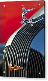 1935 Pontiac Sedan Hood Ornament Acrylic Print by Jill Reger