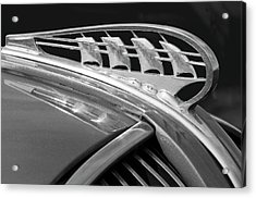 1938 Plymouth Hood Ornament 2 Acrylic Print by Jill Reger