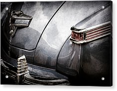 1942 Lincoln Zephyr Coupe Tail Light Emblem -1516ac Acrylic Print by Jill Reger