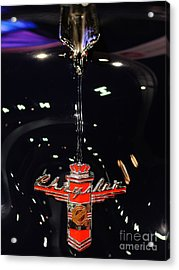 1946 Chrysler Town And Country Convertible . Hood Ornament And Badge Acrylic Print by Wingsdomain Art and Photography