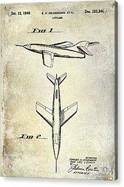 1947 Jet Airplane Patent Acrylic Print by Jon Neidert