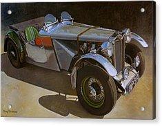 1948 M G  Racer Acrylic Print by Doug Strickland