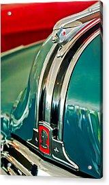 1948 Pontiac Streamliner Woody Wagon Hood Ornament Acrylic Print by Jill Reger
