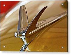 1949 Chevrolet Fleetline Hood Ornament Acrylic Print by Jill Reger