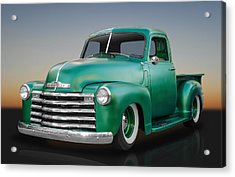 1950 Chevy Pickup Truck Acrylic Print by Frank J Benz