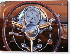 1950 Oldsmobile Rocket 88 Steering Wheel 2 Acrylic Print by Jill Reger