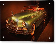 1950 Packard Super Eight  Convertible  Acrylic Print by John Bartelt