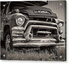 1950s Gmc 370 Acrylic Print by Jon Woodhams