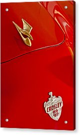 1951 Crosley Hot Shot Hood Ornament Acrylic Print by Jill Reger