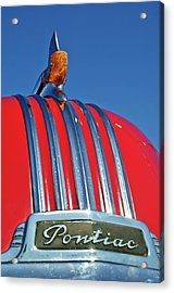 1951 Pontiac Chief Hood Ornament 2 Acrylic Print by Jill Reger