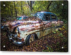 1953 Chevy Acrylic Print by Debra and Dave Vanderlaan