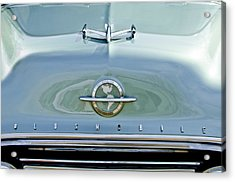 1954 Oldsmobile Super 88 Hood Ornament 3 Acrylic Print by Jill Reger