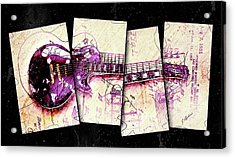 1955 Les Paul Custom Black Beauty V3 Acrylic Print by Gary Bodnar