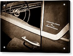 1955 Lincoln Indianapolis Boano Coupe Side Emblem - Steering Wheel -0358s Acrylic Print by Jill Reger