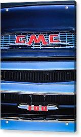1956 Gmc Suburban Pickup Grille Emblem -0194c1 Acrylic Print by Jill Reger