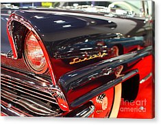 1956 Lincoln Premiere Convertible . Blue . 7d9249 Acrylic Print by Wingsdomain Art and Photography