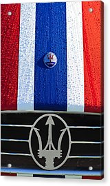 1956 Maserati 350 S Hood Ornament Emblem 3 Acrylic Print by Jill Reger
