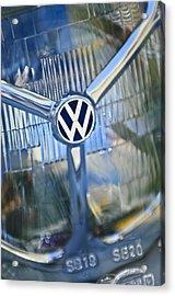 1956 Volkswagen Vw Bug Head Light Acrylic Print by Jill Reger