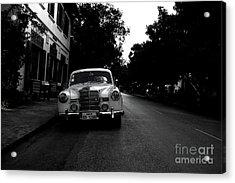 1957 Mercedes Sedan In Luang Prabang Laos Acrylic Print by Julia Hiebaum