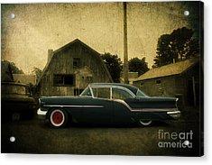 1957 Oldsmobile Acrylic Print by Joel Witmeyer