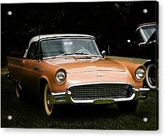 1957 Thunderbird Acrylic Print by Patricia Stalter
