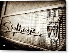 1958 Ford Fairlane Skyliner Hardtop Convertible Emblem -0437s Acrylic Print by Jill Reger