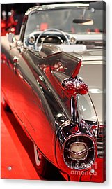 1959 Cadillac Convertible . Wing View Acrylic Print by Wingsdomain Art and Photography