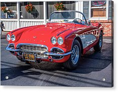 1960 Corvette Acrylic Print by Guy Whiteley