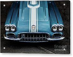 Acrylic Print featuring the photograph 1960 Corvette by M G Whittingham