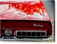 Acrylic Print featuring the photograph 1967 Mustang by M G Whittingham