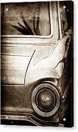 1963 Ford Falcon Taillight -0566s Acrylic Print by Jill Reger