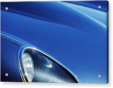 1963 Jaguar Xke Roadster Headlight Acrylic Print by Jill Reger