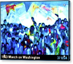 1963 March On Washington Acrylic Print by Lanjee Chee