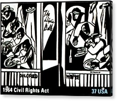 1964 Civil Rights Act Acrylic Print by Lanjee Chee