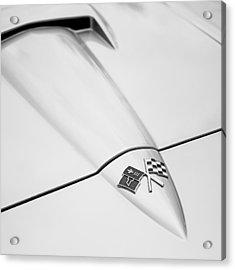 1966 Corvette Stingray Hood 2 Acrylic Print by Jon Woodhams