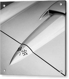 1966 Corvette Stingray Hood Acrylic Print by Jon Woodhams