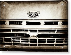 1966 Ford F100 Pickup Truck Grille Emblem -113s Acrylic Print by Jill Reger