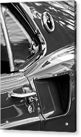 1969 Ford Mustang Mach 1 Side View -1098bw Acrylic Print by Jill Reger