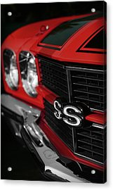 1970 Chevelle Ss396 Ss 396 Red Acrylic Print by Gordon Dean II