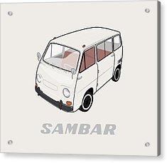 1970 Subaru Sambar Van Acrylic Print by Ed Jackson