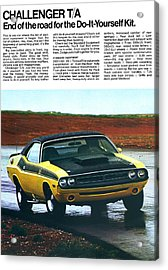 1971 Dodge Challenger T/a Acrylic Print by Digital Repro Depot