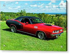 1971 Plymouth Acrylic Print by Performance Image