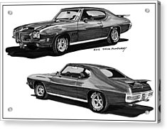 1971 Pontiac G T O Coming And Goin Acrylic Print by Jack Pumphrey