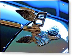 1980 Bentley Hood Ornament Acrylic Print by Jill Reger