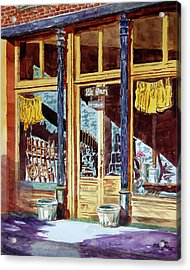 5 O'clock On Pecan St. Acrylic Print by Ron Stephens