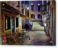 An Evening In Venice Acrylic Print by Frozen in Time Fine Art Photography